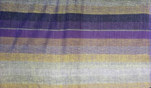 Tapestries Madras Striped - Purple and Gold - Tapestry 009605