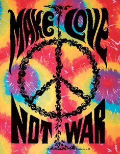 Tapestries Make Love Not War - Tie-Dye - Tapestry 001160