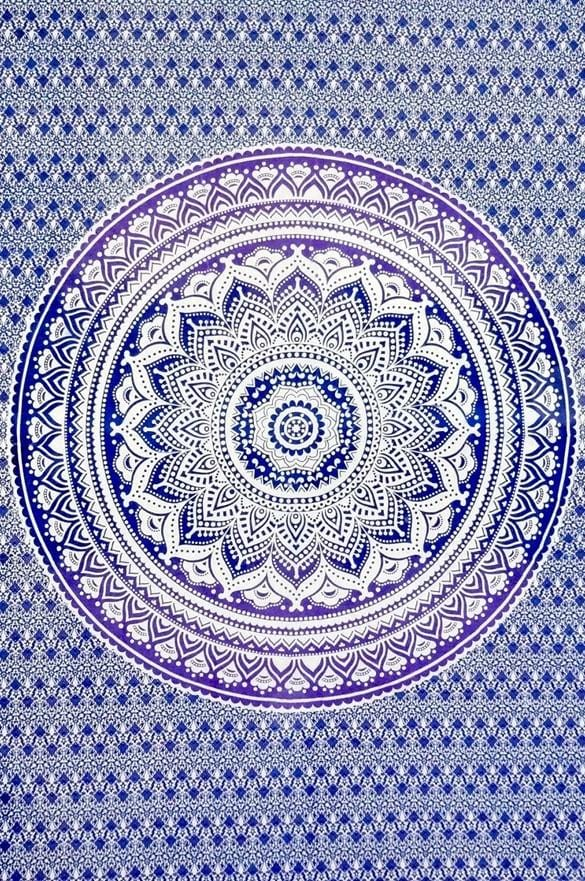 Tapestries Mandala - Blue and Purple Tie-Dye - Tapestry 100632