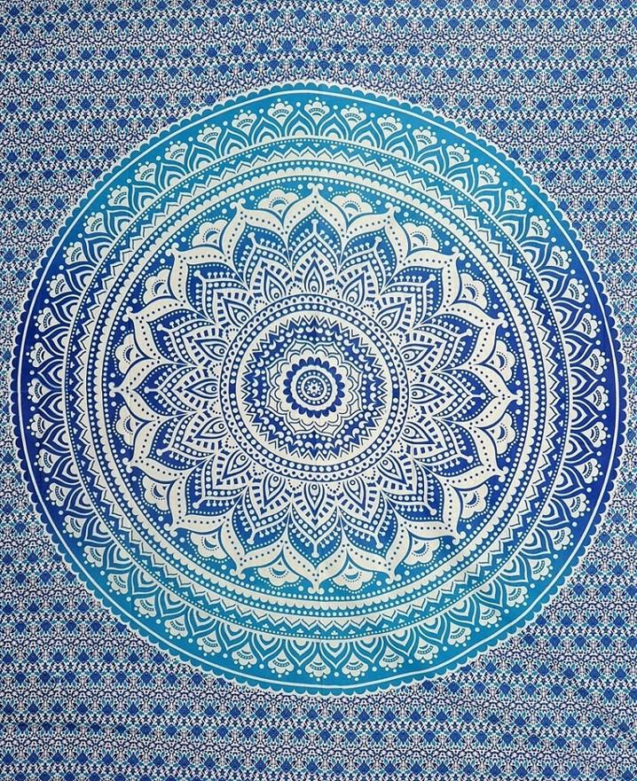 Tapestries Mandala - Blue and Turquoise Tie-Dye - Tapestry 100633