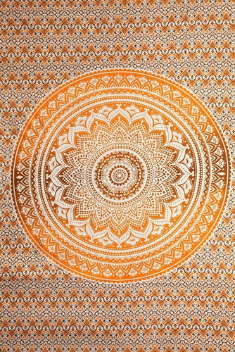 Tapestries Mandala - Brown and Orange Tie-Dye - Tapestry 100631