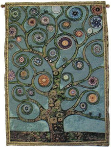 Tapestries Mandala Tree of Life - Green - Rod Tapestry 005645