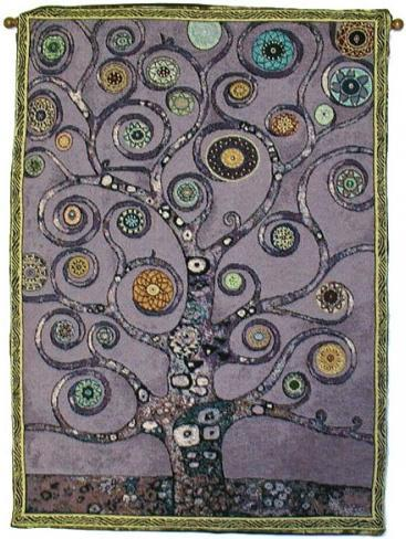 Tapestries Mandala Tree of Life - Purple - Rod Tapestry 005644