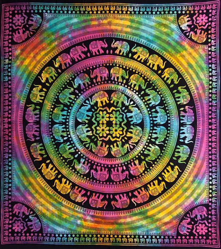 Tapestries Marching Elephant Mandala - Tapestry 100682