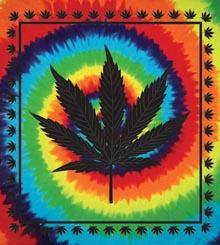 Tapestries Marijuana Leaf - Tie-Dye - Tapestry 000322