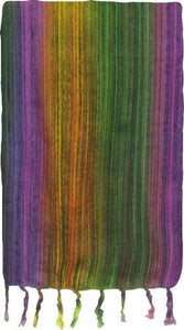 Tapestries Purple/Green/Yellow Multi-Color Stripes - Tapestry 009586