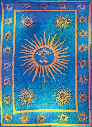Tapestries Multi-Sun - Blue - Tapestry 007401