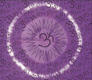 Tapestries Om Burst - Purple Tie-Dye - Tapestry 006910