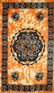 Tapestries Om Chakra - Orange - Tapestry 008303