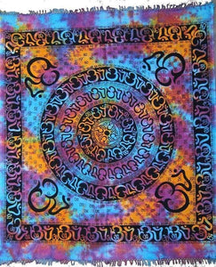 Tapestries Om Mandala with Fringe - Tie-dye - Tapestry 100068