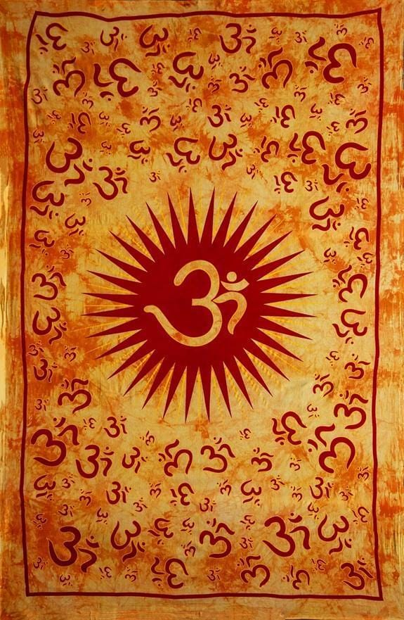 Tapestries Om Sun - Orange Tie-dye - Tapestry 000231