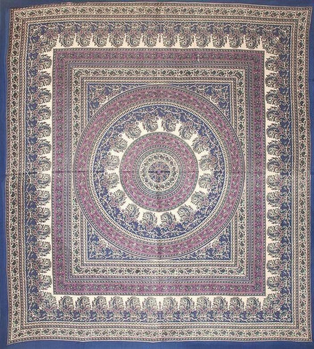 Tapestries Paisley Circle - Purple and Blue - Tapestry 002032