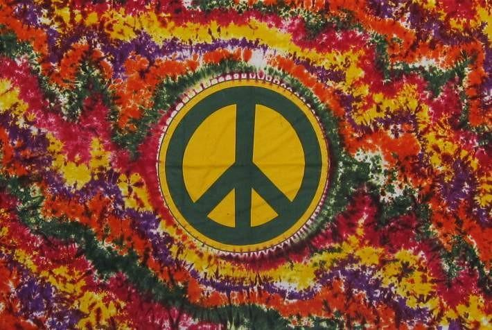 Tapestries Peace at the Center - Tie-Dye - Tapestry 100046