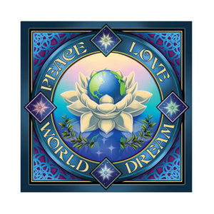 Tapestries Peace Lotus - Small Tapestry 100919