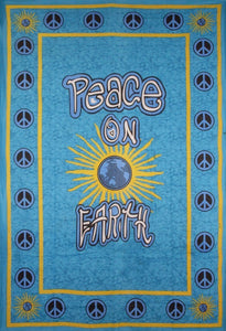 Tapestries Peace on Earth - Blue - Tapestry 008848
