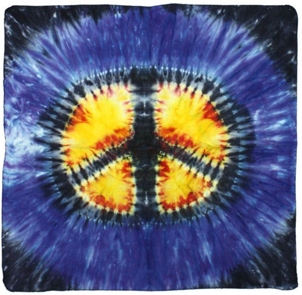 Tapestries Peace Sign - Tie-Dye Burst - Small Tapestry 100064