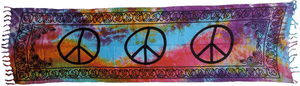 Tapestries Peace - Tie-Dye - Wide Tapestry 010610