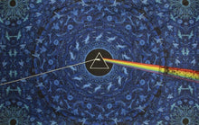 Load image into Gallery viewer, Tapestries blue Pink Floyd - Dark Side of the Moon Lyrics - Tapestry 006923