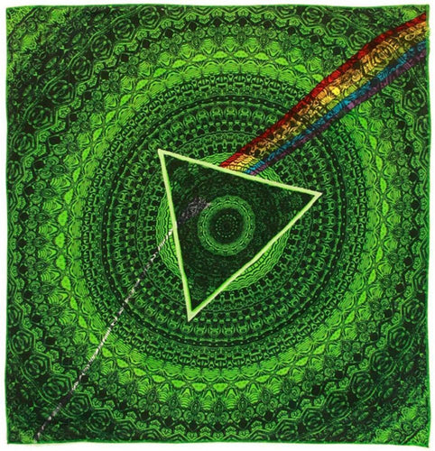 Tapestries Pink Floyd - Dark Side of the Moon Shadow - Green - Small Tapestry 100099