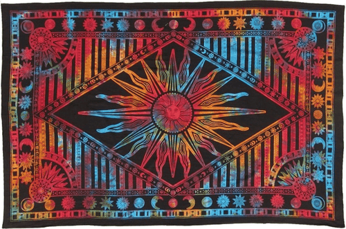 Tapestries Psychedelic Celestial Sun - Tie-Dye - Tapestry 100378
