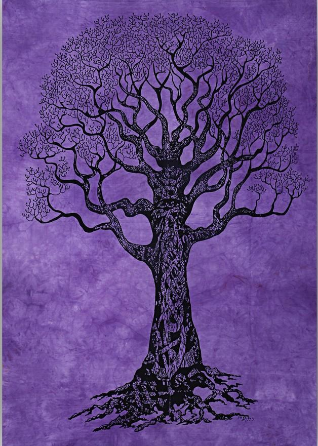 Tapestries Psychedelic Celtic Tree - Purple - Tapestry 100636