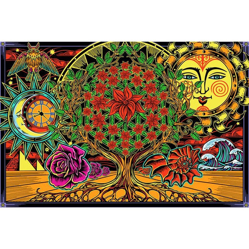 Tapestries Psychedelic Flower of Life - Tapestry 100871
