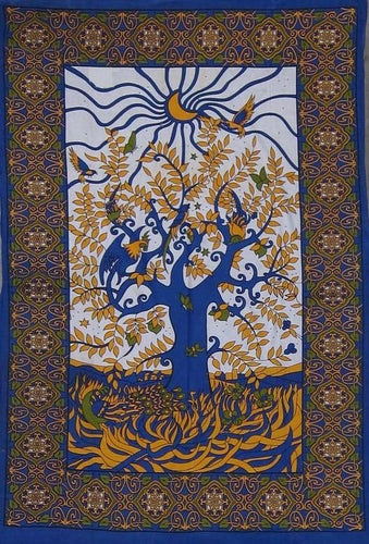 Tapestries Psychedelic Tree - Blue - Tapestry 100664