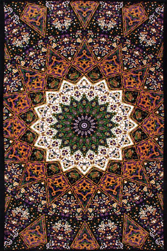 Tapestries Purple India Star - Tapestry ta-114
