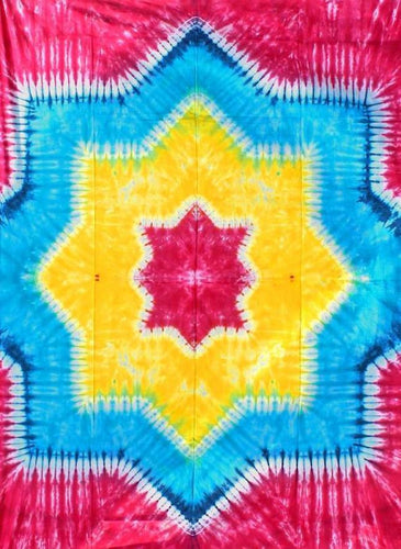 Tapestries Rainbow Star - Tie-Dye - Tapestry 000164