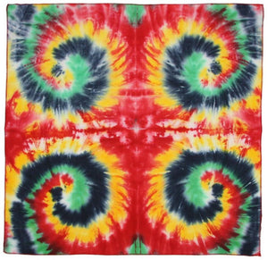Tapestries Rasta Multi-Spiral - Tie-Dye - Small Tapestry 100082