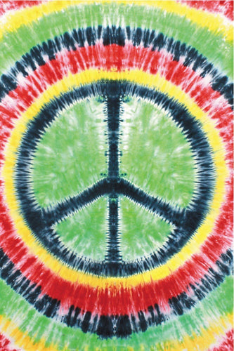 Tapestries Rasta Peace Sign - Tie-Dye - Tapestry 000777