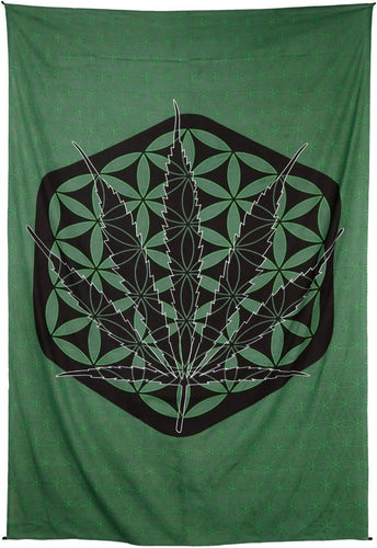 Tapestries Sacred Pot Leaf - Tapestry 013864