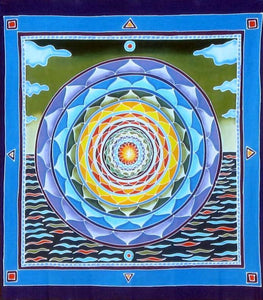 Tapestries Sea and Sky Batik Mandala - Tapestry 007622