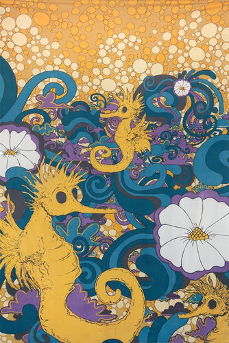 Tapestries Seahorse Party - Tapestry 008142