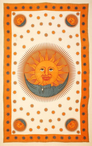 Tapestries Solar Eclipse - White and Gold - Tapestry 100368