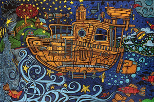 Tapestries Steampunk Tugboat - Tapestry 007386