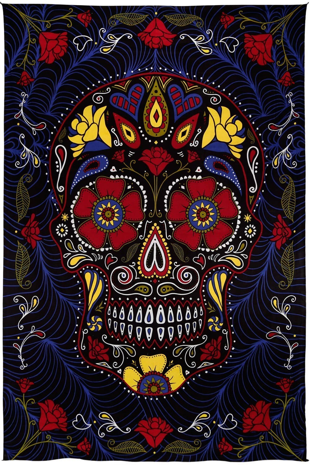 Tapestries Sugar Skull - Black - Tapestry 100027