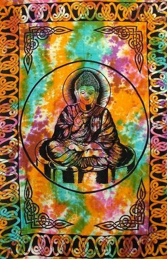 Tapestries Tie-Dye - Lord Buddha - Tapestry 004911