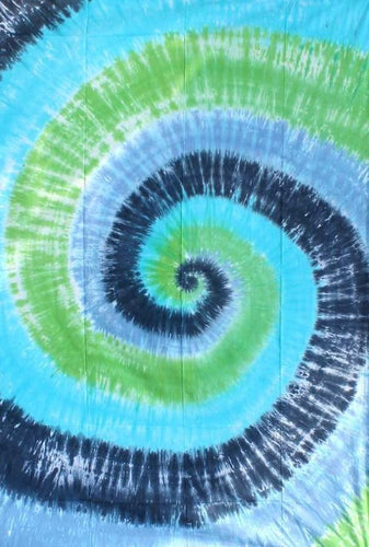 Tapestries Tie-Dye Spiral - Blue and Green - Tapestry 000163