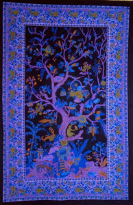 Tapestries Tree of Life - Black and Purple - Tapestry 100281