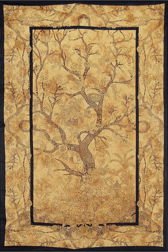 Tapestries Tree of Life - Brown Tie-Dye - Tapestry 007387