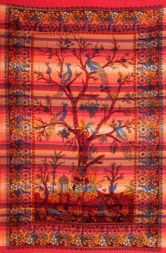 Tapestries Tree of Life - Orange and Red Stripes - Tapestry 100670