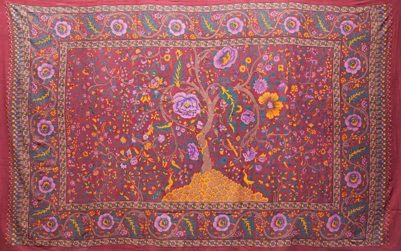 Tapestries pink Tree of Life - Pink - Tapestry 001041