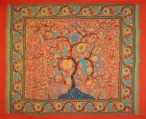 Tapestries Tree of Life - Red - Tapestry 100061