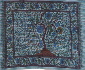 Tapestries Tree of Life - Striped Blue - Tapestry 100040