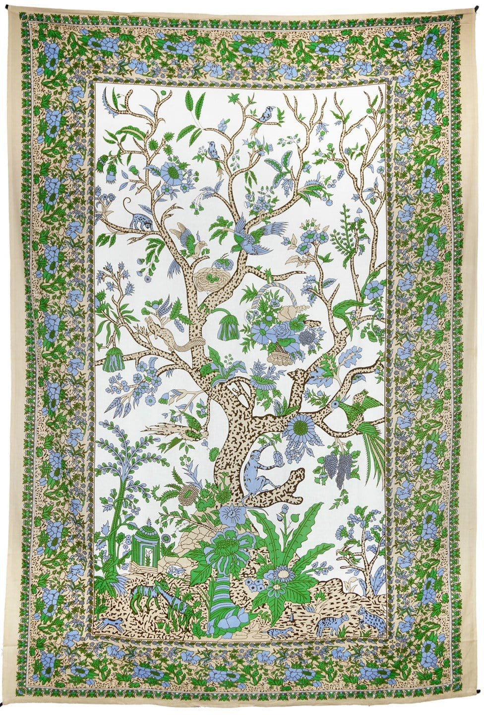 Tapestries Tree of Life - Tan and Green - Tapestry 100595