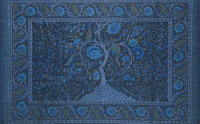 Tapestries blue Tree of Life - Tapestry 001043
