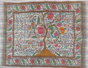 Tapestries Tree of Life - White and Pink - Tapestry 100058