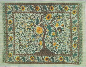 Tapestries Tree of Life - Yellow and Green Stripe - Tapestry 100041