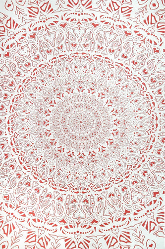 Tapestries Tropical Mandala - Red - Tapestry 100598
